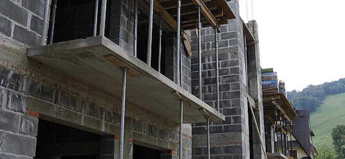 Budowa pensjonatu na Harendzie