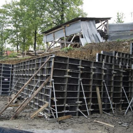 Construction of a retaining wall in Zakopane