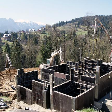 Budowa zespołu domków jednorodzinnych