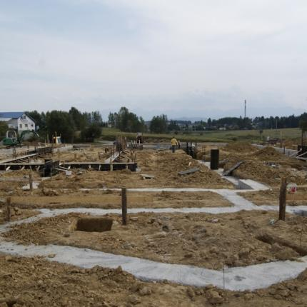 Construction of an industrial installation