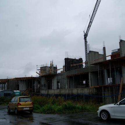 Construction of a block of flats