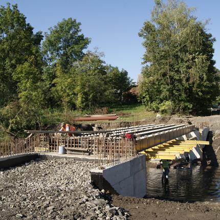 Budowa mostu Poznachowice Dolne