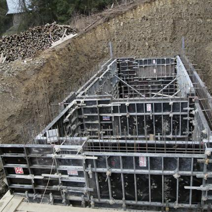 Construction of a drinking water reservoir