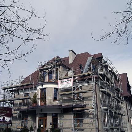 Remont i rozbudowa pensjonatu Roztoka
