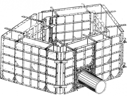 Small-sized module formwork